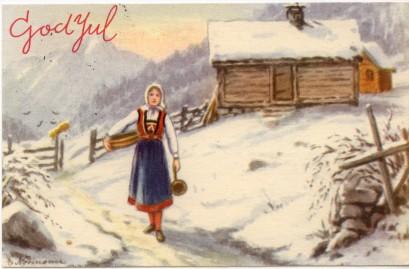 brevet julekort til familien